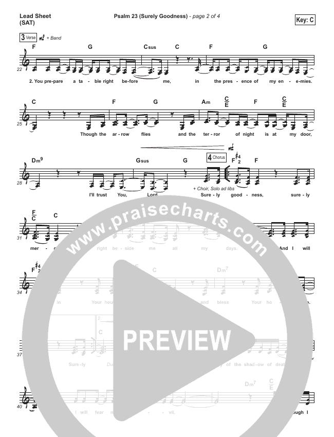 Psalm 23 (Surely Goodness) Lead (SAT) (Brooklyn Tabernacle Choir / Shane & Shane)