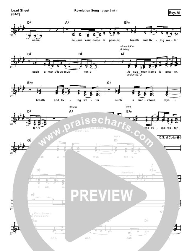 Revelation Song Lead (SAT) (People & Songs)