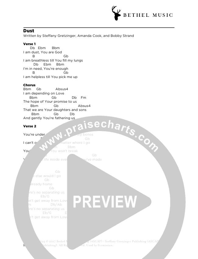 Dust Chord Chart (Steffany Gretzinger)