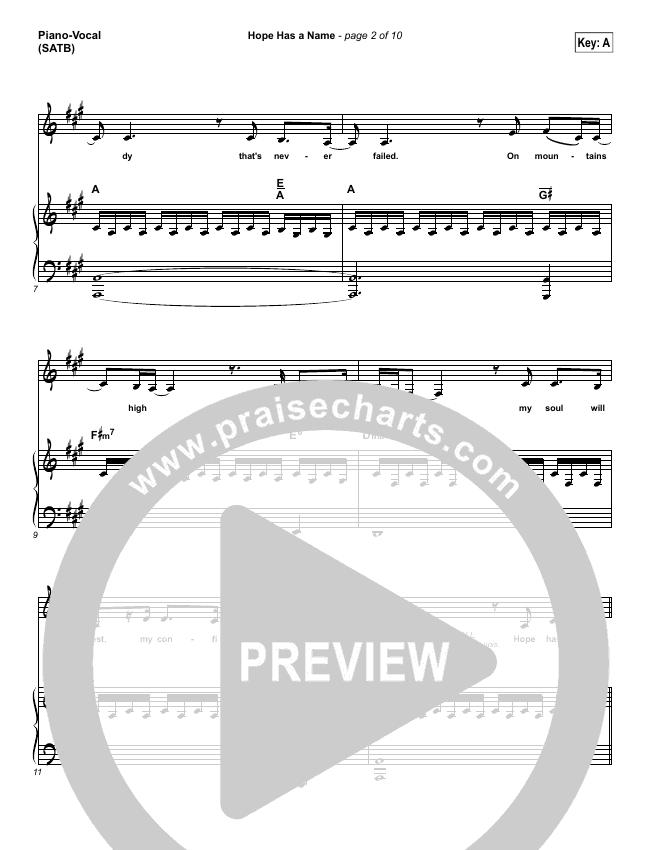 Hope Has A Name Piano/Vocal (SATB) (River Valley Worship)