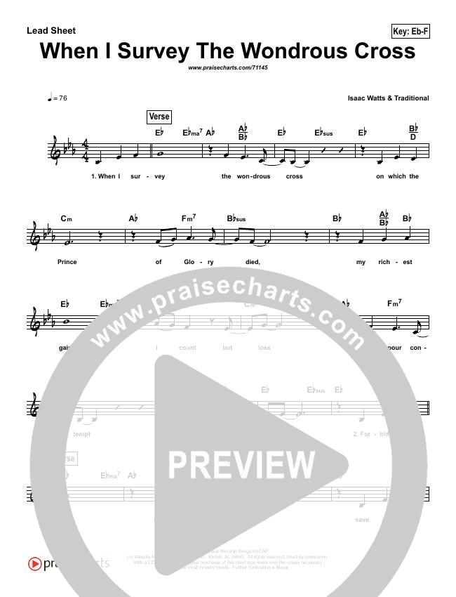 When I Survey (The Wondrous Cross) (Simplified) Lead Sheet (Kathryn Scott)