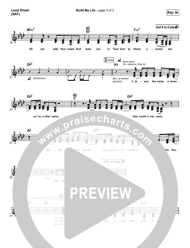 Build My Life Piano/Vocal Pack (Pat Barrett)