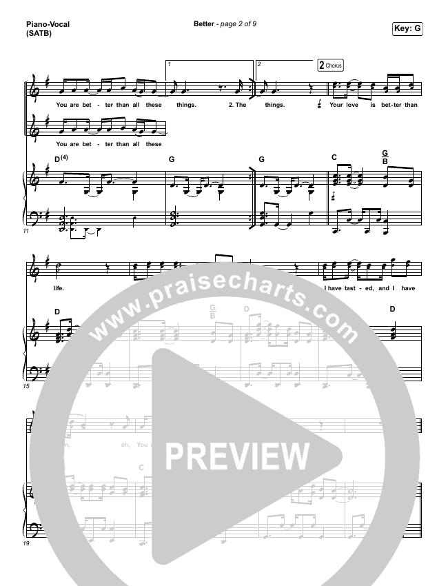 Better Piano/Vocal (SATB) (Pat Barrett)