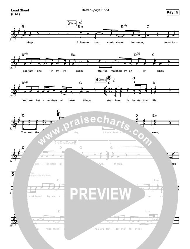Better Lead & Piano/Vocal (Pat Barrett)