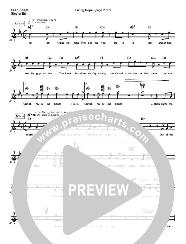 Living Hope Lead Sheet (Melody) (Phil Wickham)