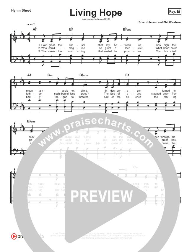 Living Hope Hymn Sheet (Phil Wickham)