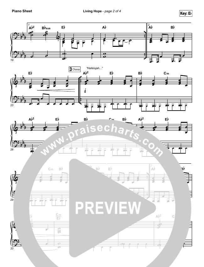 Living Hope Piano Sheet (Phil Wickham)
