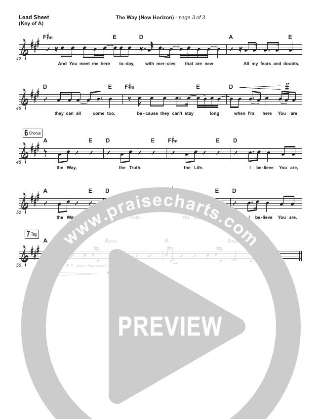 The Way (New Horizon) Lead Sheet (Melody) (Pat Barrett)