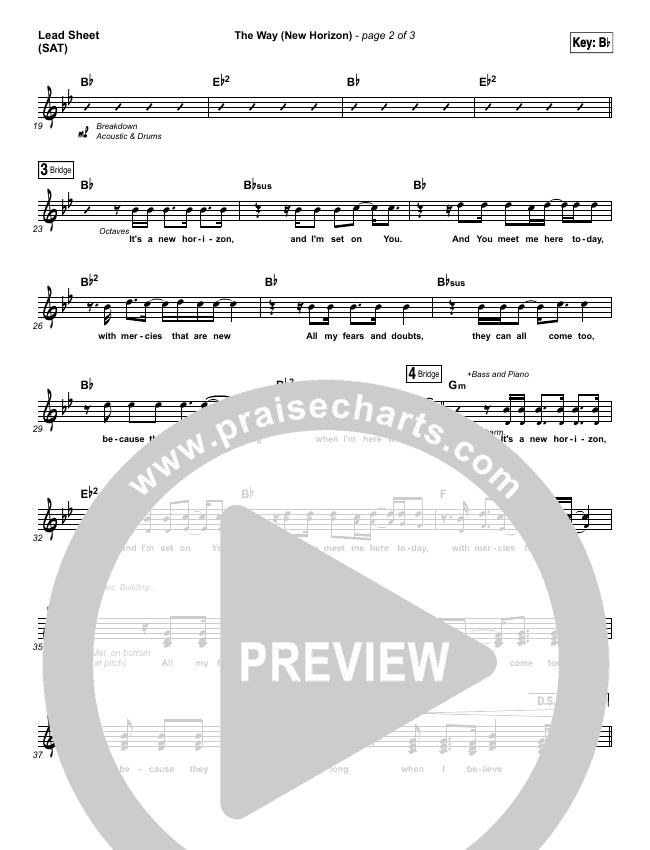 The Way (New Horizon) Lead Sheet (SAT) (Pat Barrett)