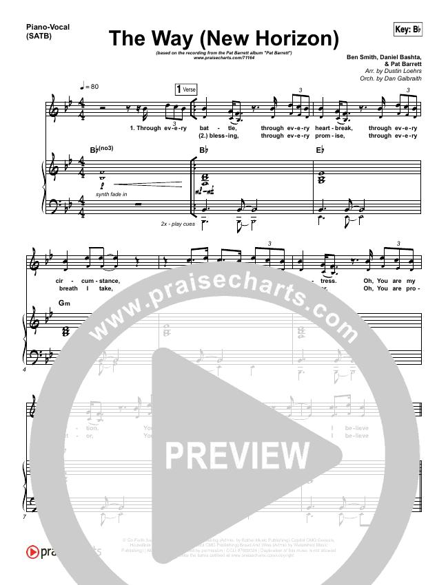 The Way (New Horizon) Piano/Vocal (SATB) (Pat Barrett)