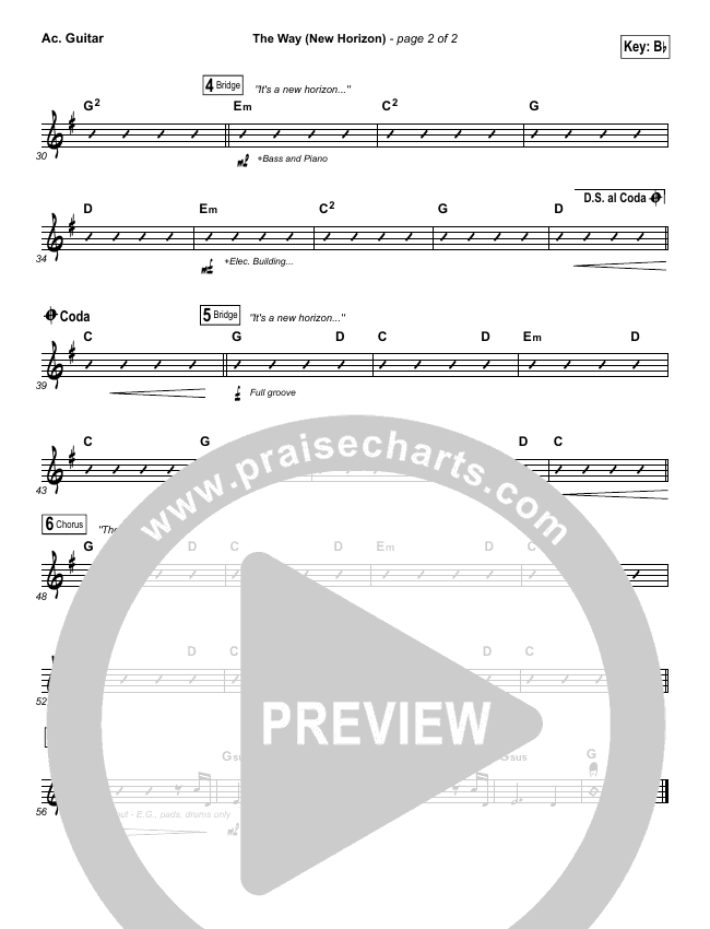 The Way (New Horizon) Rhythm Chart (Pat Barrett)
