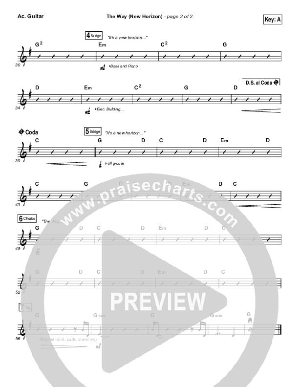 The Way (New Horizon) Acoustic Guitar (Pat Barrett)