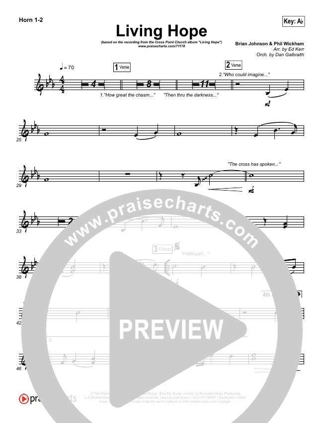 Living Hope Brass Pack (Cross Point Music / Cheryl Stark)