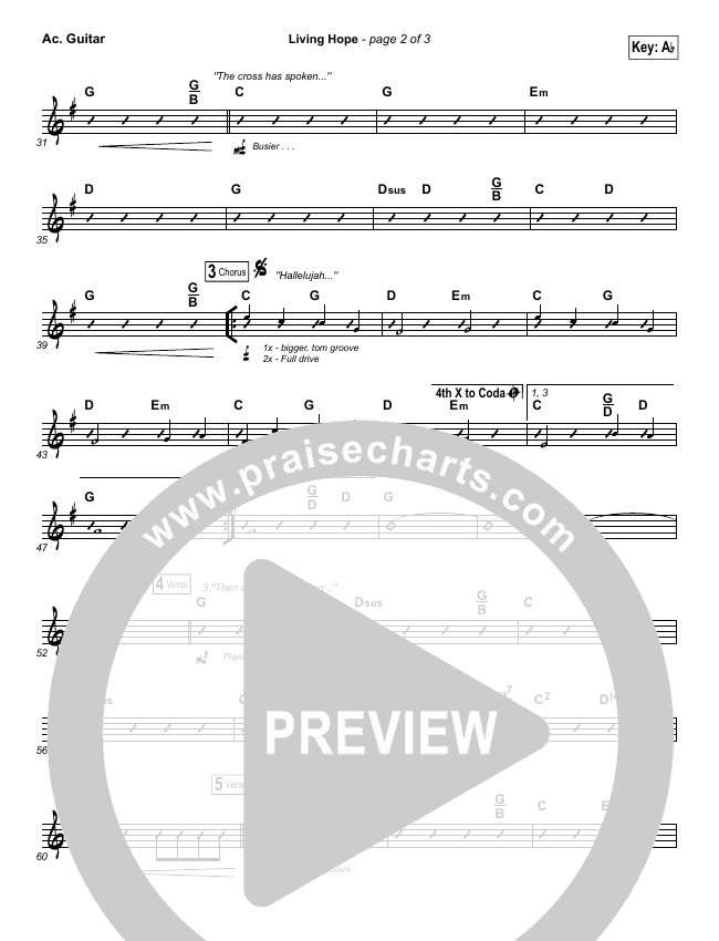 Living Hope Rhythm Chart (Cross Point Music / Cheryl Stark)