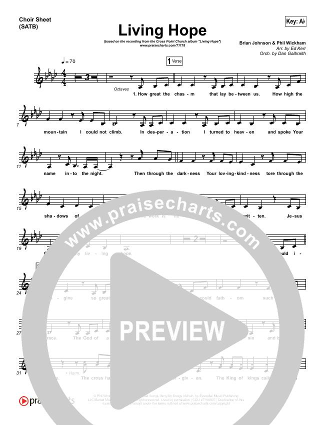 Living Hope Choir Sheet (SATB) (Cross Point Music / Cheryl Stark)