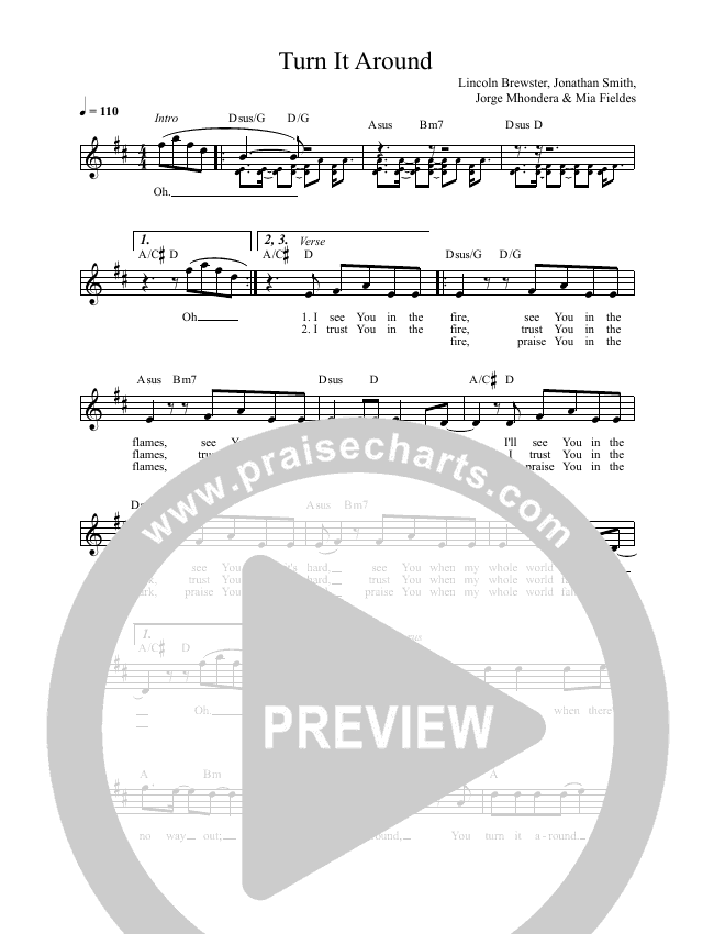 Turn It Around Lead & Piano (Lincoln Brewster)
