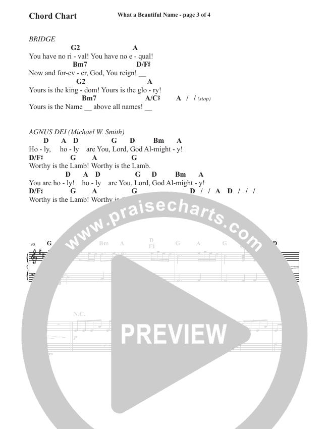 What A Beautiful Name / Agnus Dei (Medley) (Choral) Chord Chart (Travis Cottrell / Brentwood-Benson Choral / Arr. Travis Cottrell, Mason Brown)