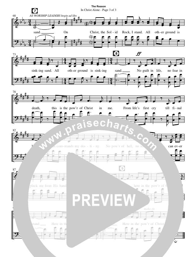 In Christ Alone (Choral) Choir Sheet (SATB) (Travis Cottrell / Brentwood Benson Choral / Arr. Travis Cottrell, Mason Brown)