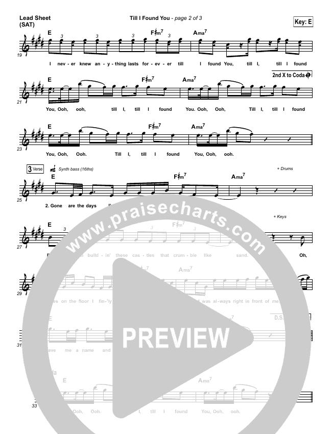 till i found you sheet music pdf (phil wickham) - praisecharts  praisecharts