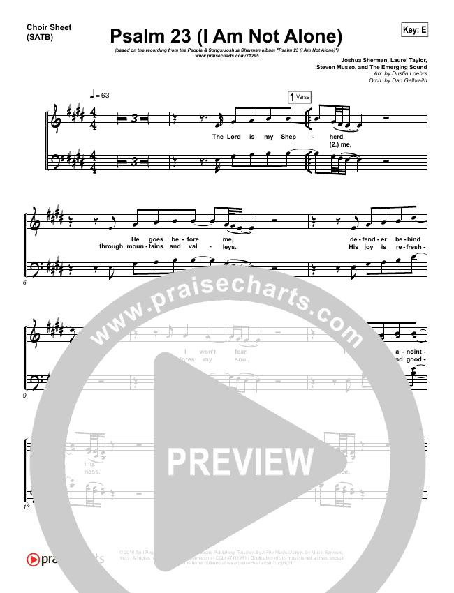 Psalm 23 (I Am Not Alone) Choir Sheet (SATB) - People