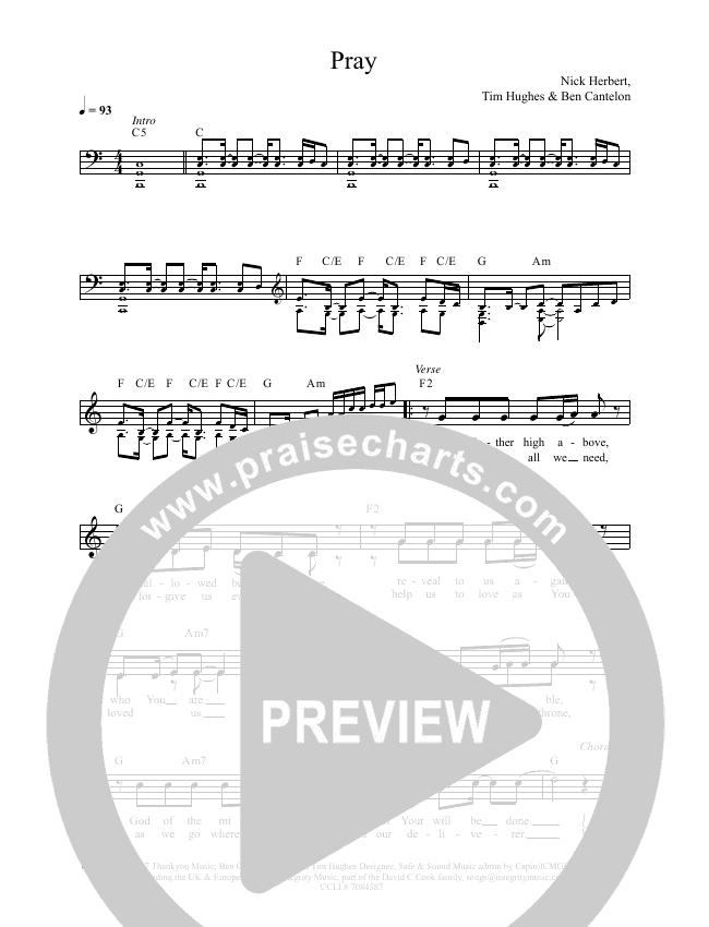 Pray Lead & Piano (Worship Central / Luke Hellebronth)