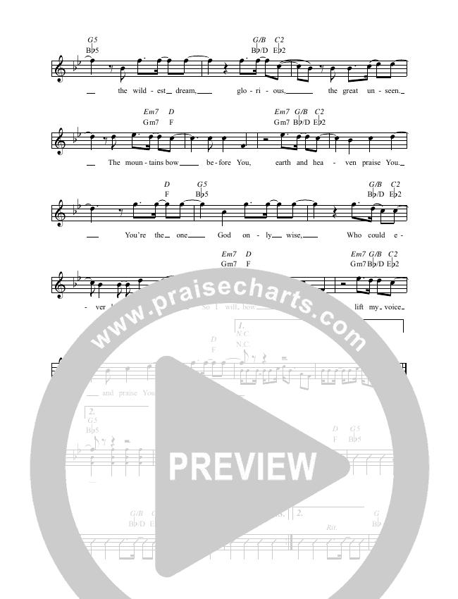 Majesty (O The Mystery) Lead & Piano (Worship Central / Josh Gauton)