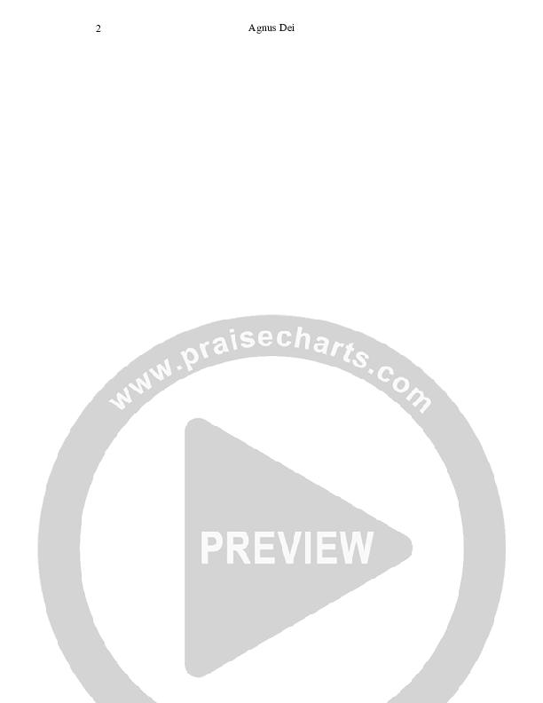 Agnus Dei Chord Chart (Dennis Prince / Nolene Prince)