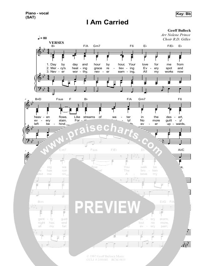 I Am Carried Lead & Piano (Dennis Prince / Nolene Prince)