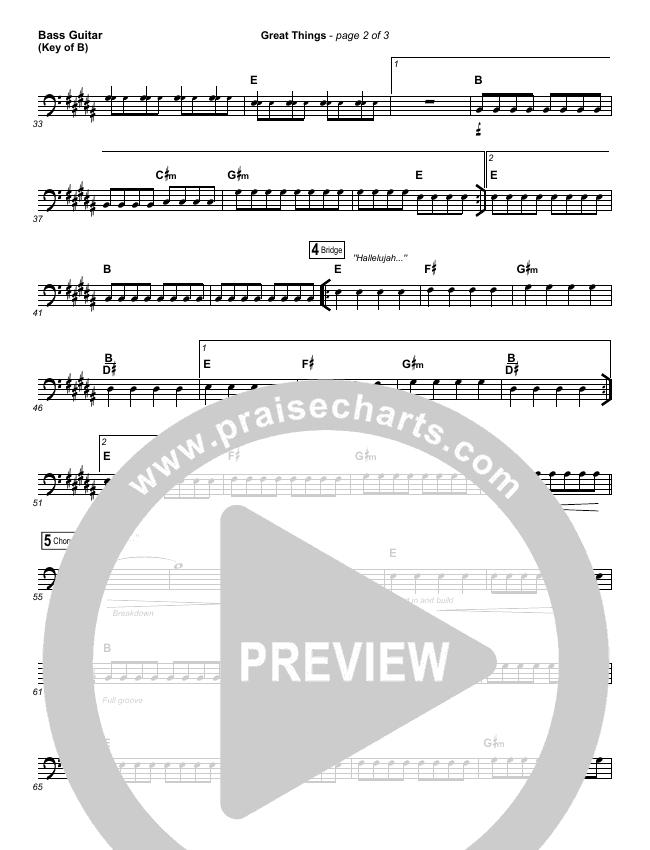 Great Things Bass Guitar (Phil Wickham)