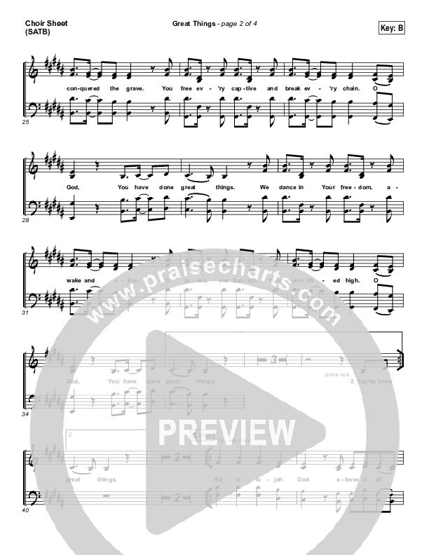 Great Things Choir Sheet (SATB) (Phil Wickham)