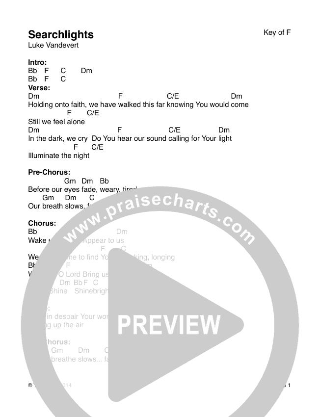 Searchlights Chords & Lyrics (The Arctic)