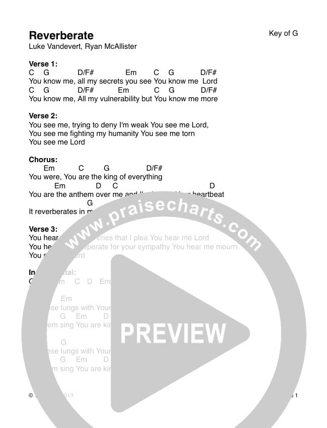 Reverberate Chords & Lyrics (The Arctic)