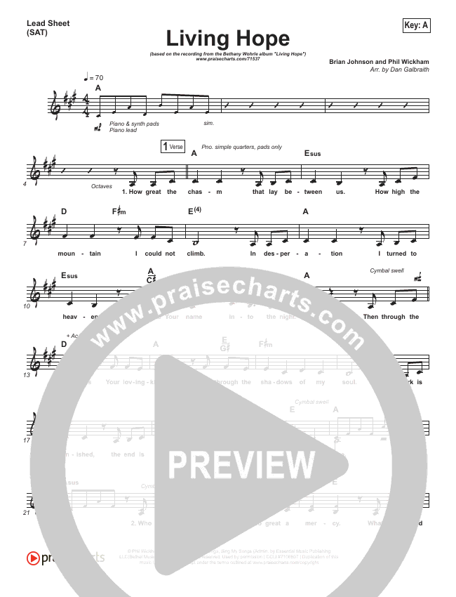 Living Hope Lead & Piano/Vocal (Bethel Music / Bethany Wohrle)