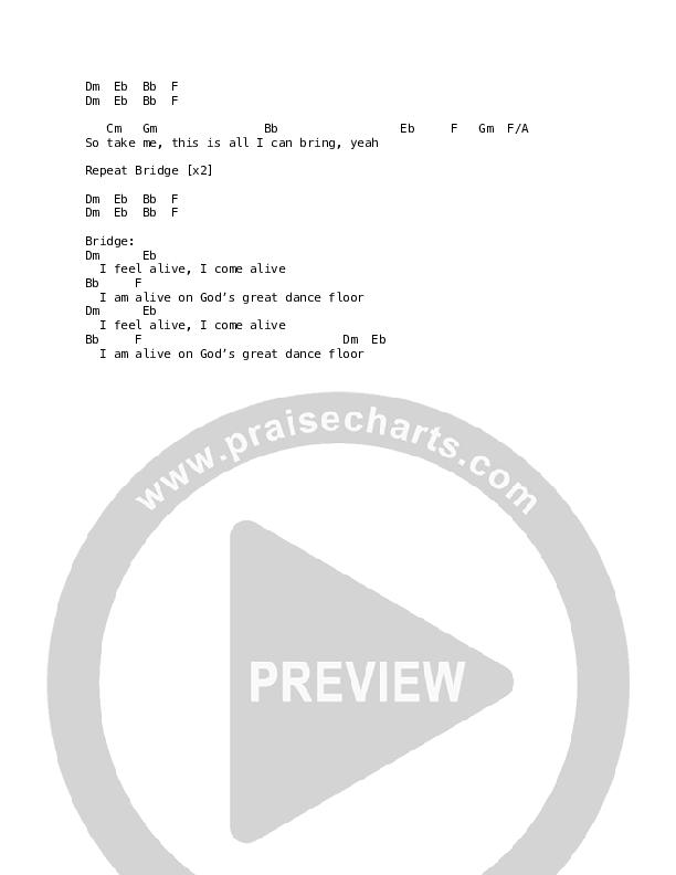 God's Great Dance Floor Chord Chart (Martin Smith)