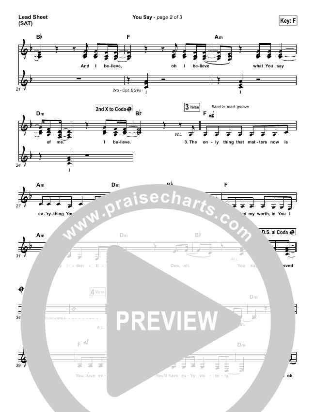 You Say Orchestration & Finale (Lauren Daigle)