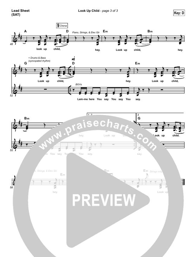 Look Up Child Lead & Piano/Vocal (Lauren Daigle)