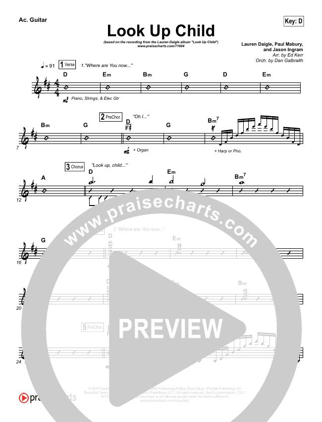 Look Up Child Rhythm Chart (Lauren Daigle)