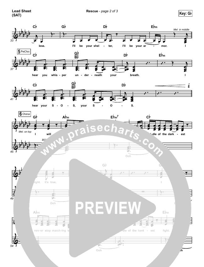Rescue Lead & Piano/Vocal (Lauren Daigle)