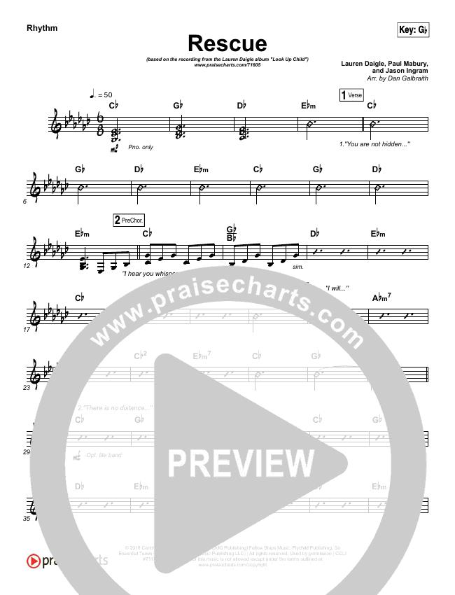 Rescue Rhythm Chart (Lauren Daigle)