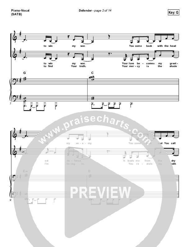 Defender Piano/Vocal (SATB) (Jesus Culture /  Katie Torwalt)