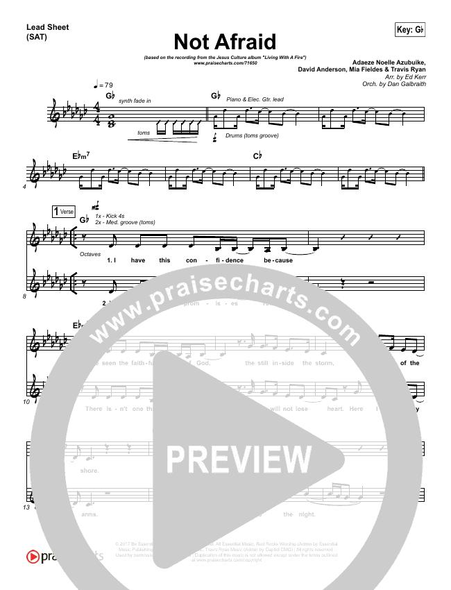 Not Afraid Orchestration & Finale (Jesus Culture / Kim Walker-Smith)
