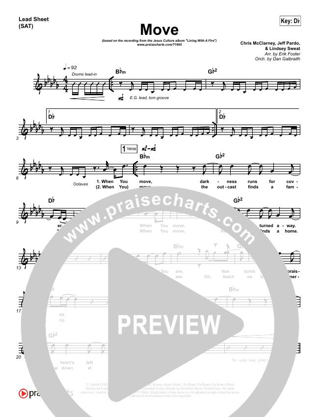 Move Lead & Piano/Vocal (Jesus Culture / Chris Quilala)