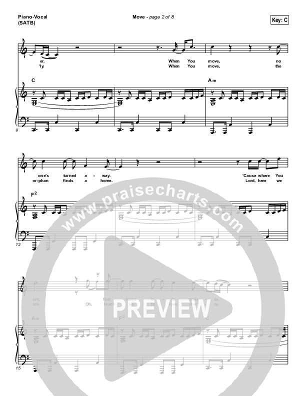 Move Piano/Vocal (SATB) (Jesus Culture / Chris Quilala)