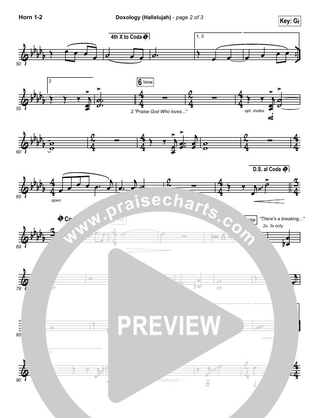 Doxology (Hallelujah) Brass Pack (David & Nicole Binion / Tasha Cobbs)