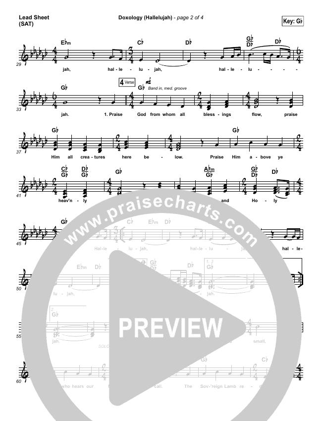 Doxology (Hallelujah) Lead & Piano/Vocal (David & Nicole Binion / Tasha Cobbs)
