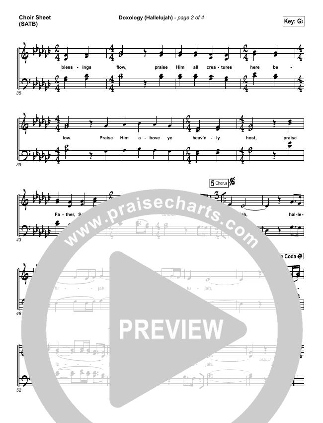 Doxology (Hallelujah) Choir Sheet (SATB) (David & Nicole Binion / Tasha Cobbs)