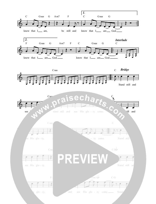 Be Still And Know Lead & Piano (David & Nicole Binion / Calvin Nowell)