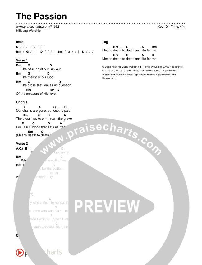 The Passion Chords & Lyrics (Hillsong Worship)
