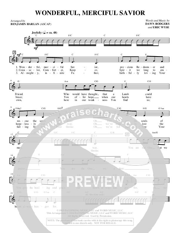 Wonderful Merciful Savior (Choral) Choir Sheet (SATB) (Alfred Sacred)