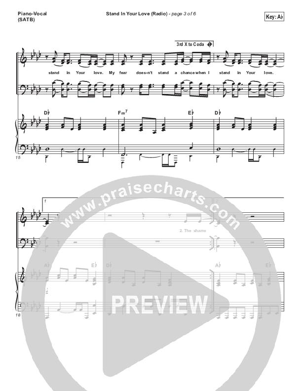 Stand In Your Love (Radio) Piano/Vocal (SATB) (Bethel Music / Josh Baldwin)